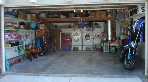 i would recommend working on a section of your garage at a time be it one corner piled up of stuff or a particular area of shelves - Organize Garage