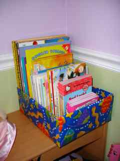 organize kids books