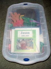 Children's artwork boxed