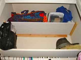 coat closet shelf