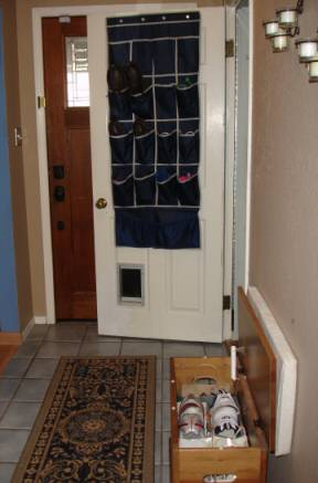 Shoe storage in small entryway