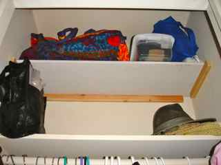 coat closet shelf