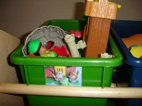 organize toys with labels