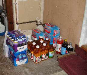 Soda shelf garage storage